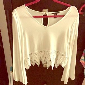 Cropped flowy top